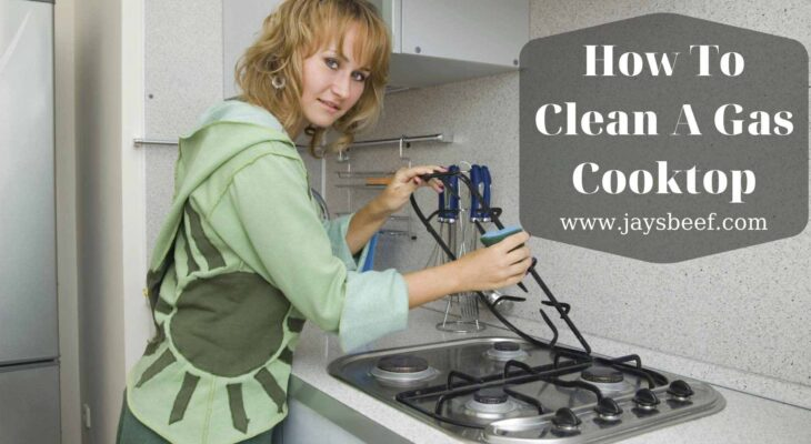 how to clean a gas cooktop