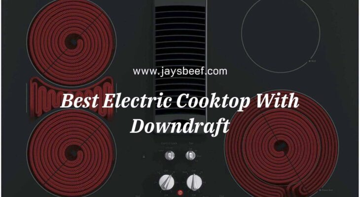 electric cooktop with downdraft