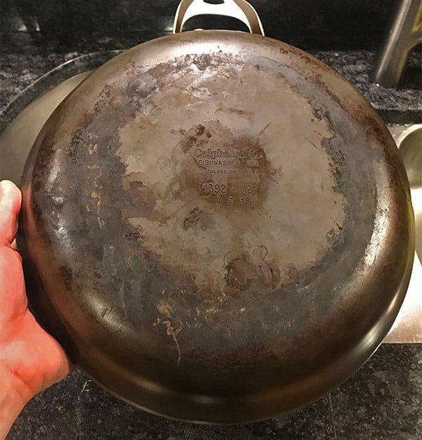 Cleaning The Bottom Of A Calphalon Pan