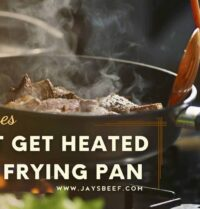 meat get heated in a frying pan
