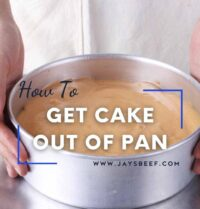 how to get cake out of pan