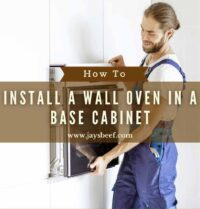 how to install a wall oven in a base cabinet