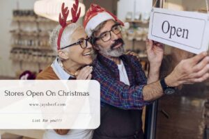Stores Open On Christmas